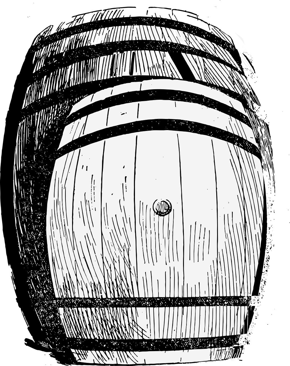 Vector barrel. Whiskey wine cask winery