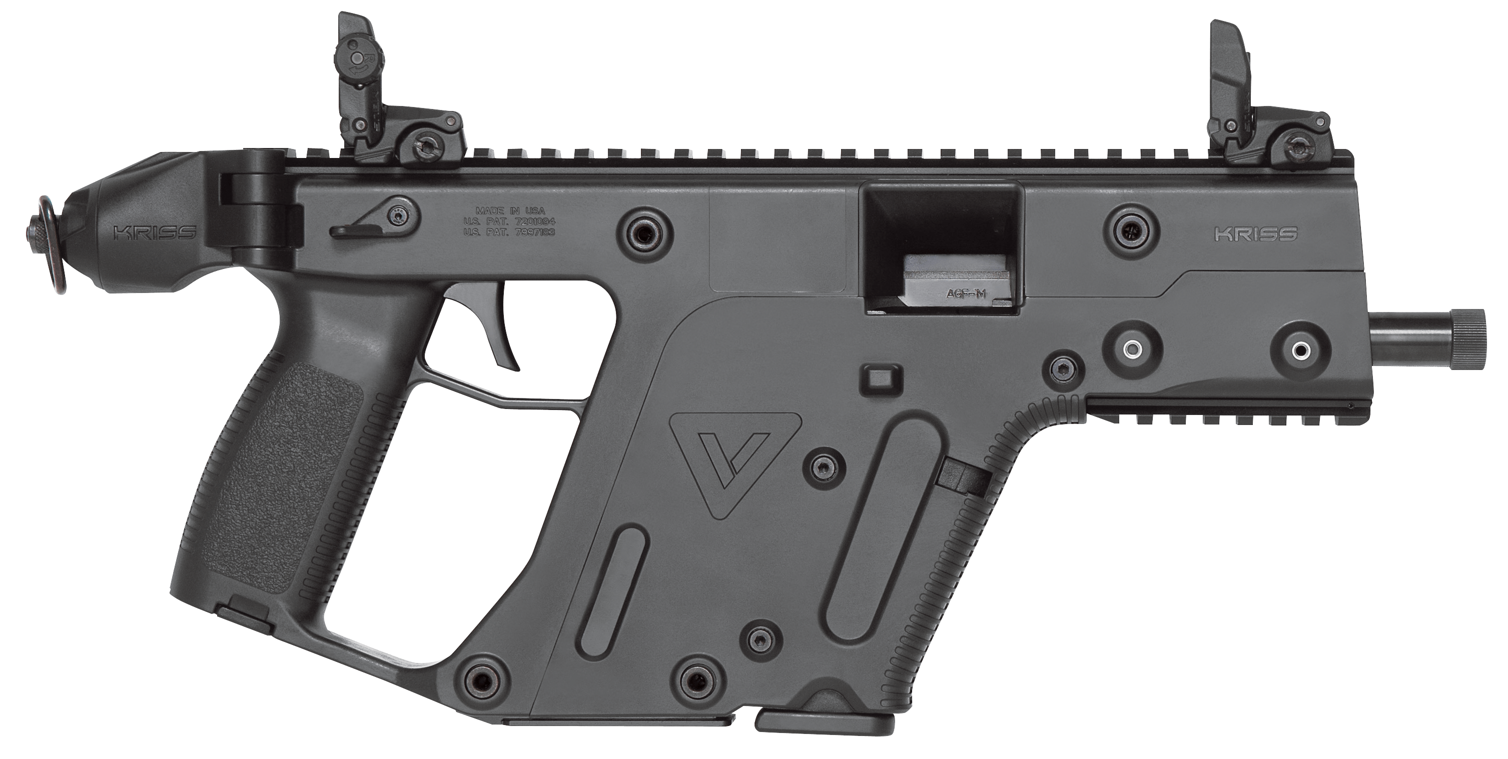 Kriss usa kv pbl. Vector handguns png royalty free