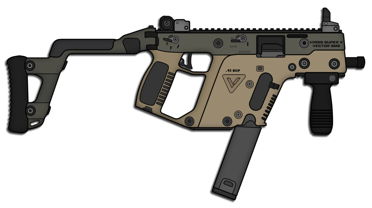 Vector barrel front. Kriss smg by skorpion