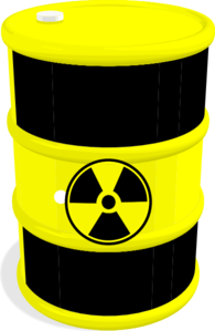 Vector barrel radioactive. Yellow black bio hazard