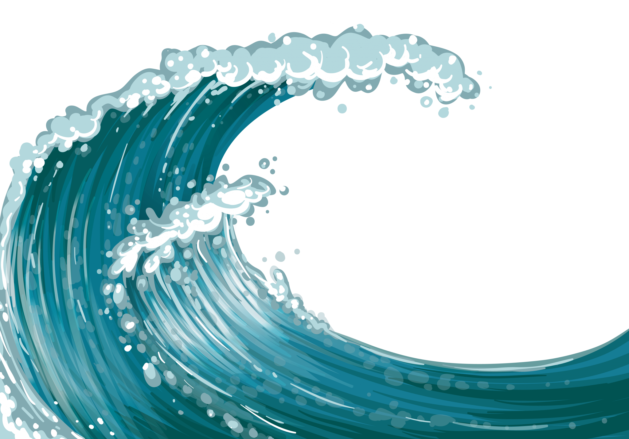Vector barrel wave. Ovean waves banner library