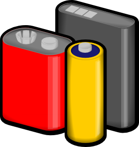 Vector battery 9 volt. Batteries clip art at