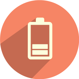 Vector battery bar. Icon iconset graphicloads