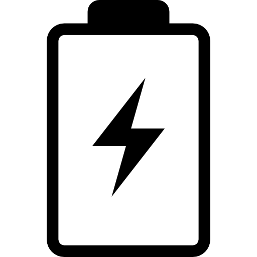 Vector battery smartphone user. With a bolt symbol
