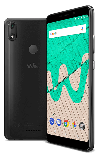 Vector battery smartphone user. Wiko mobile view max