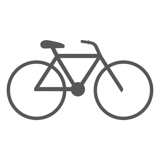 Vector bike. Bicycle icon transparent png