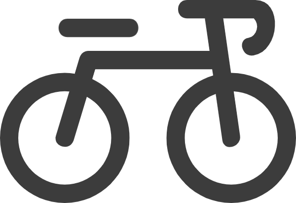 Vector bike badge. Free online bicycle exercise