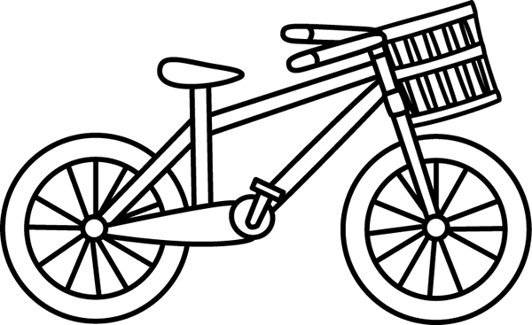 Bike . Cycling clipart black and white graphic stock