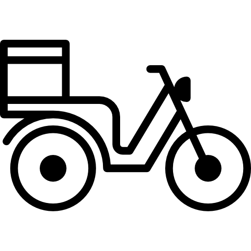 Vector bike delivery. Motorbike free transport icons