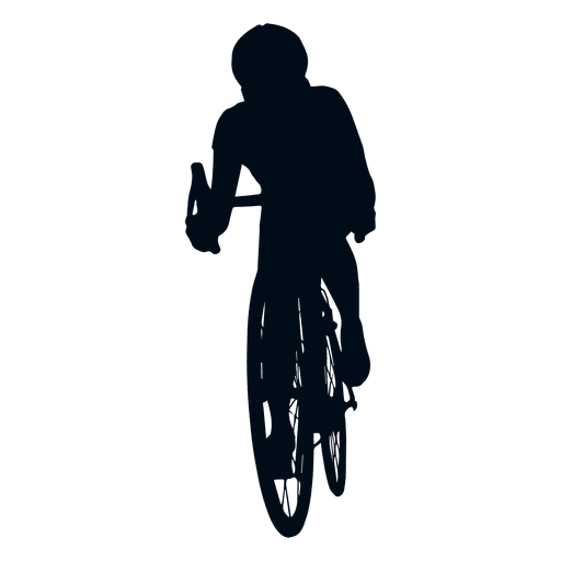 Vector bike man. Cycling silhouette transparent png