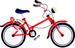 Vector bike red. Bicycle clip art at