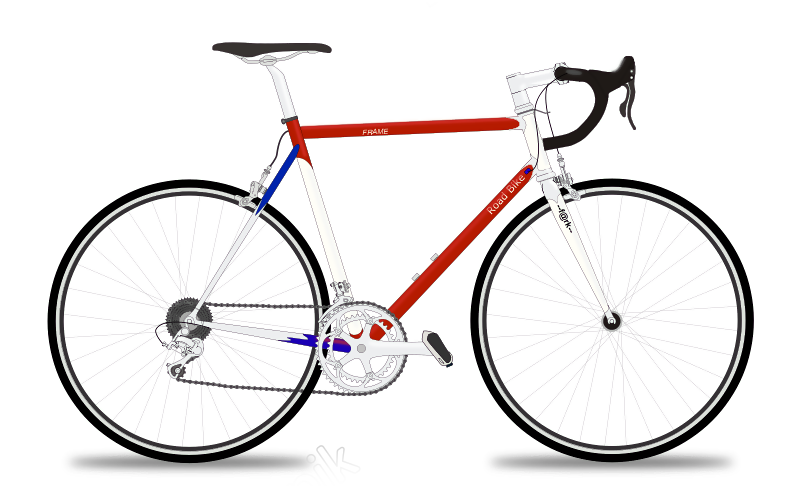Cycle vector bicycle design. Cycling road free svg