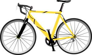 Yellow clip art vector. Cycling clipart mountain bike clipart library library