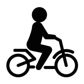 Cycle vector man. Person riding a bike