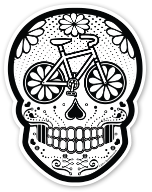Vector bike skull. Ghost sugar by albert