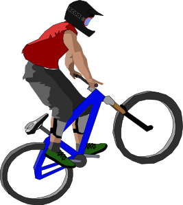 Vector bike sport. Biker clip art at