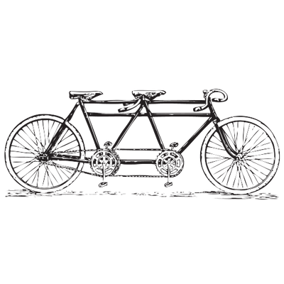 tandem vector free. Cycle clipart old bicycle vector freeuse