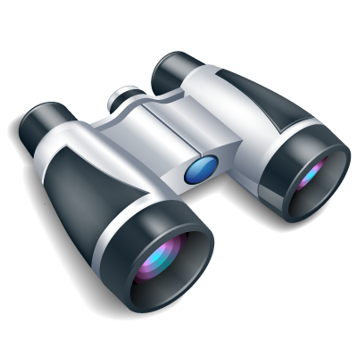 Vector binoculars clip art. Perspective general icons by