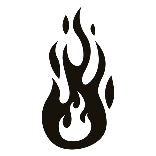 Fire cartoon flame illustration. Fuego negro png vector library