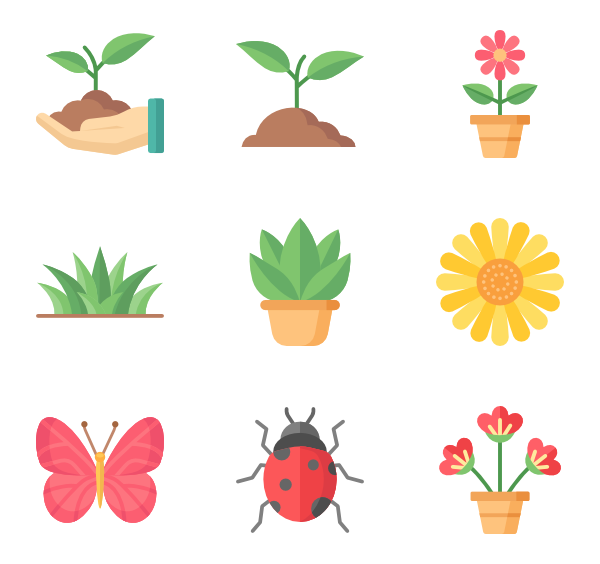 Vector blueprint home. House plants icons free