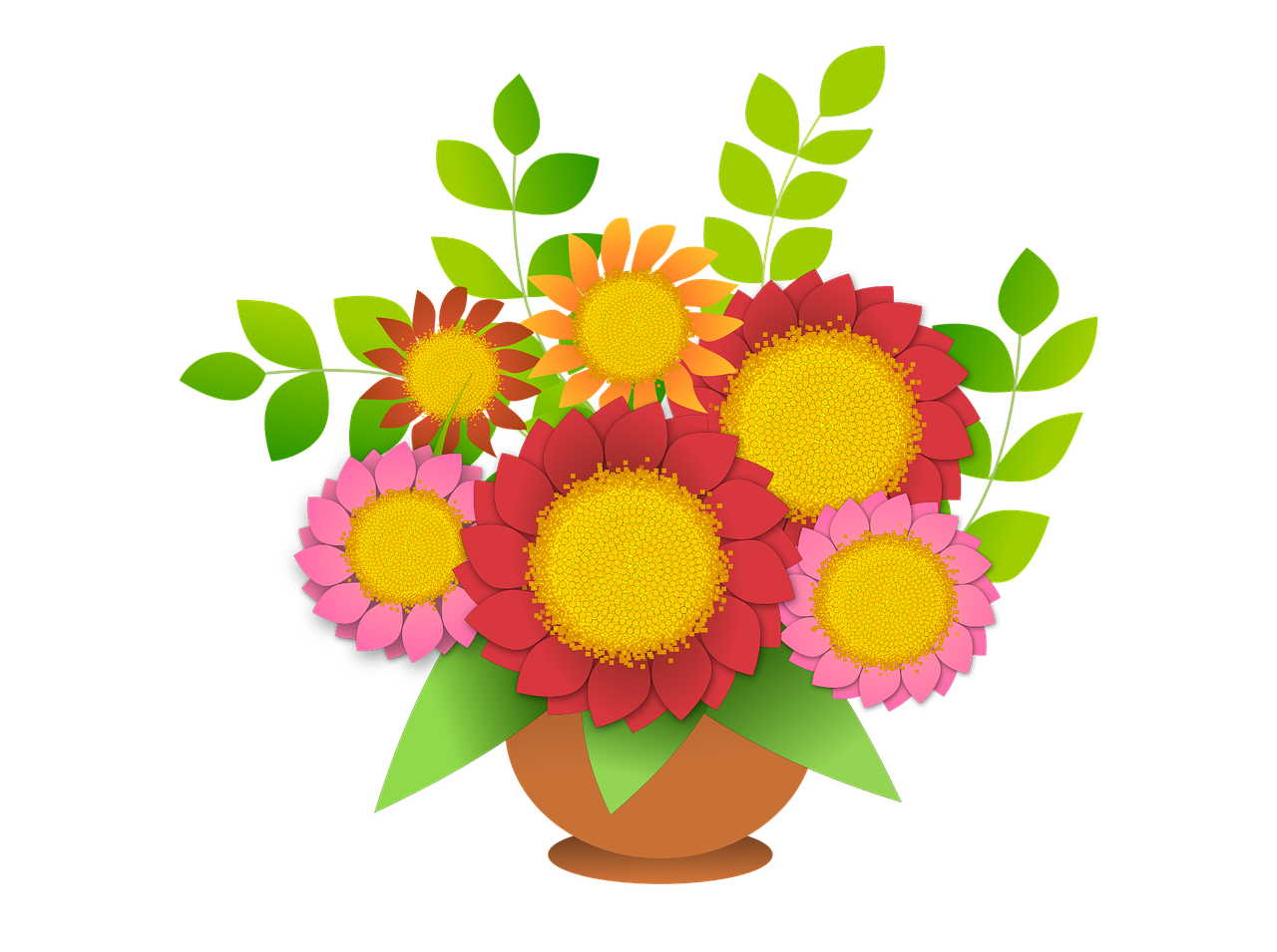 Flower decoration free graphics. Vector bouquet clip art royalty free download