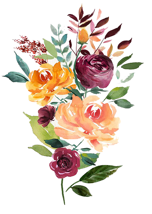 Vector bouquet hand drawn floral. Watercolor abstract flower peoplepng