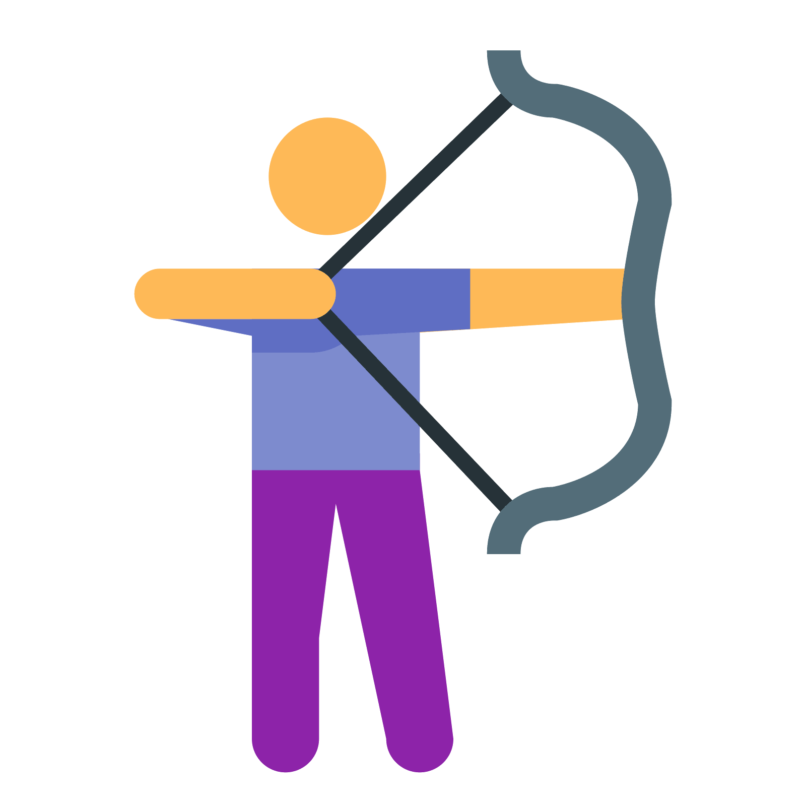 Archer clipart archer silhouette. Archery icon free download