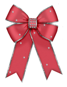 Christmas red clip art. Vector bows bow tie banner royalty free download