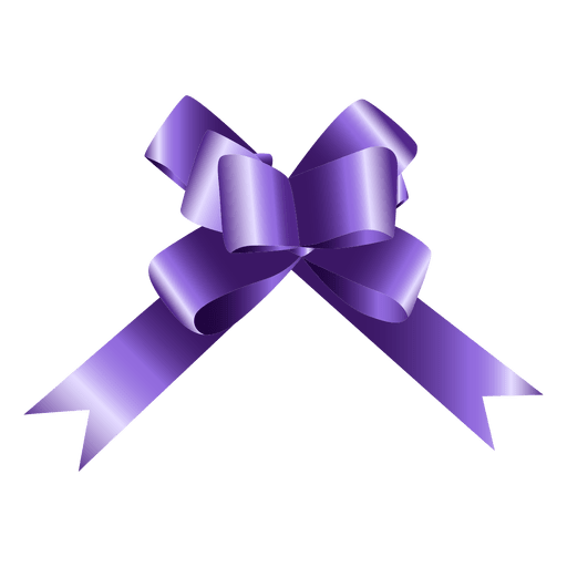 Vector bows compass. Bow purple gift transparent
