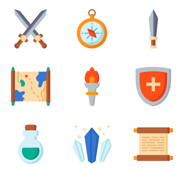 Vector bows illustrator. Bow icons free medieval