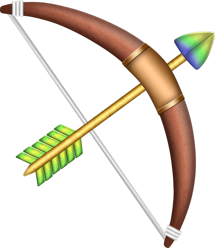 Vector bows native american. Clipart bow and