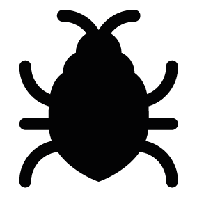 Vector bug. Silhouette of