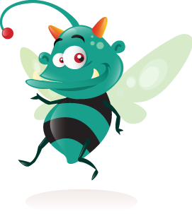 Bugs vector different. Freebie cool bug mascot