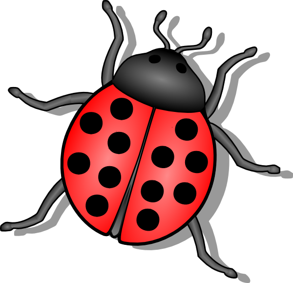 Vector insects small. Lady bug clip art