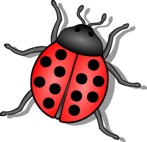 Vector insects kid. Lady bug clip art