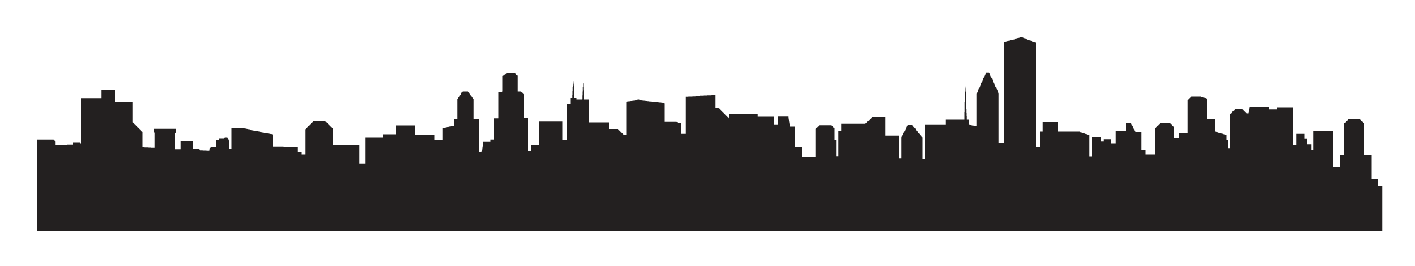 city skyline silhouette png