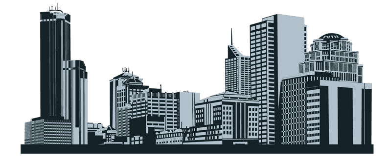 Houston vector city. Collection of clipart