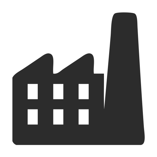Vector buildings black and white. Factory icons download free