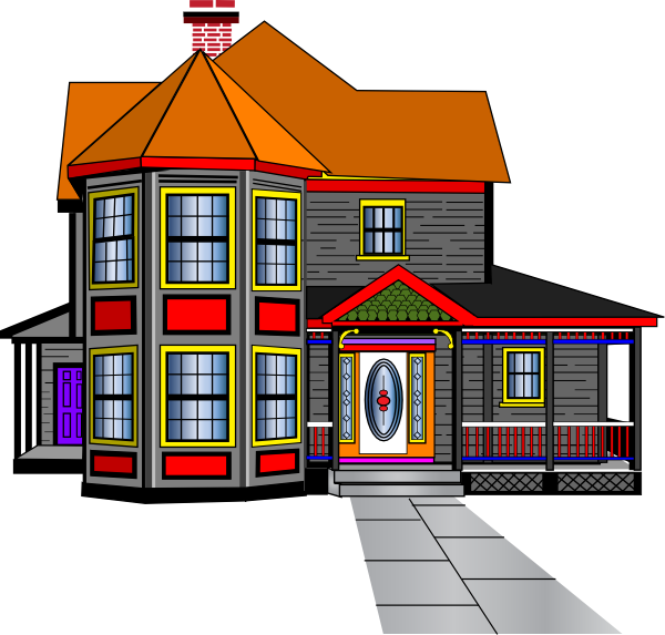 Vector buildings colonial building. Big house clipart best