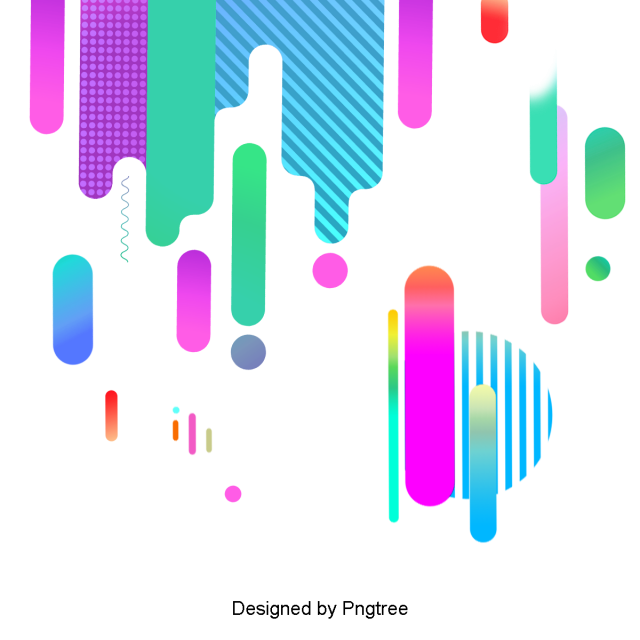 Vector curve circle. Colorful geometric flat gradient