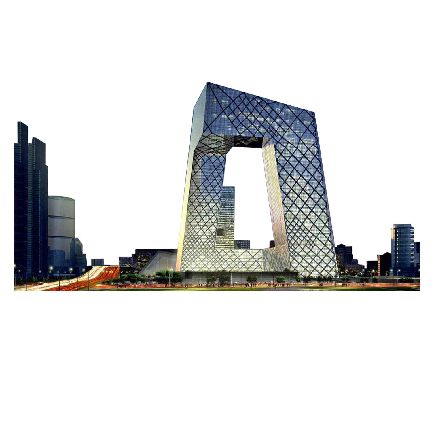 Vector buildings modern building. Cctv headquarters architecture china