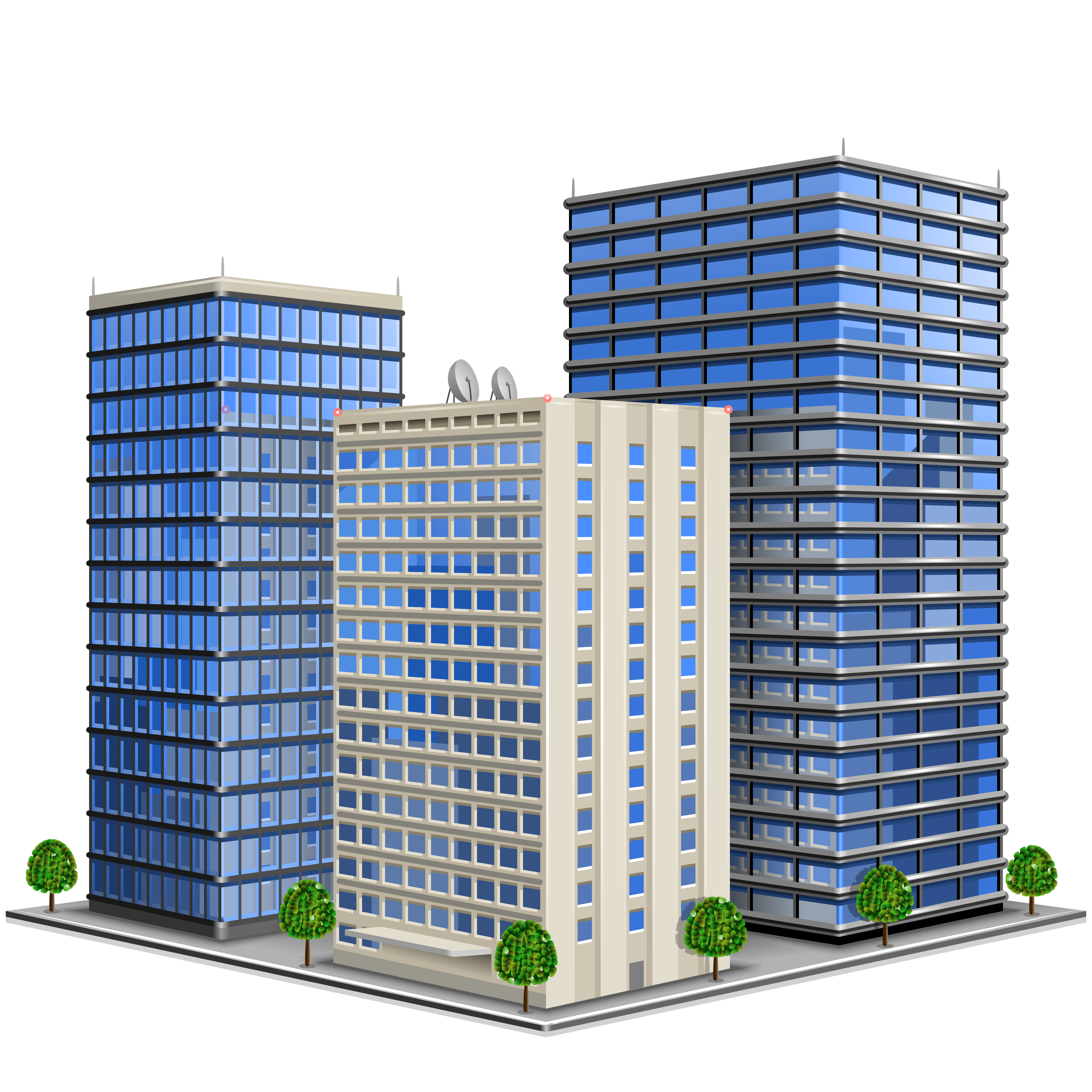 Vector office building. Business real estate organization