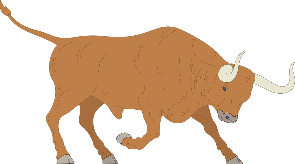 Vector bull mad. Images free group with