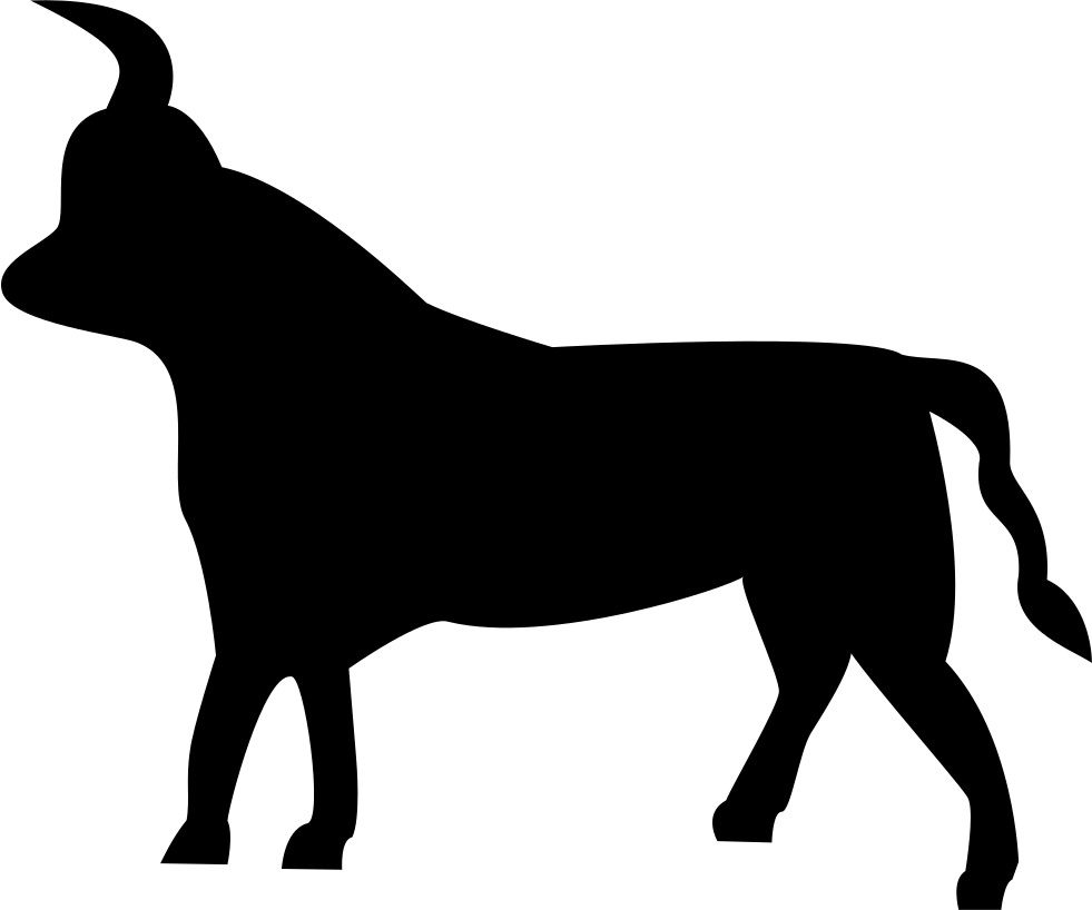 Vector bull side view. Taurus sign svg png