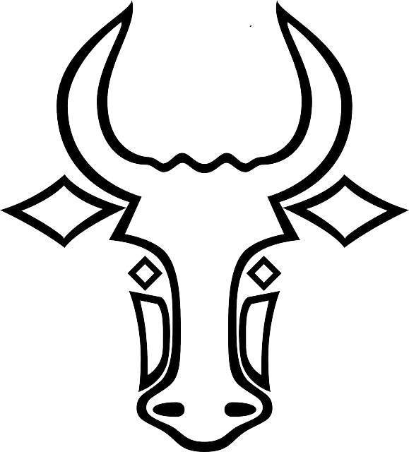 Cattle clipart carabao. Red bull logo drawing