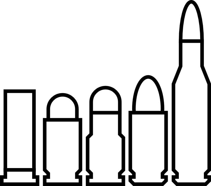 Vector bullet casing. Free stock download on
