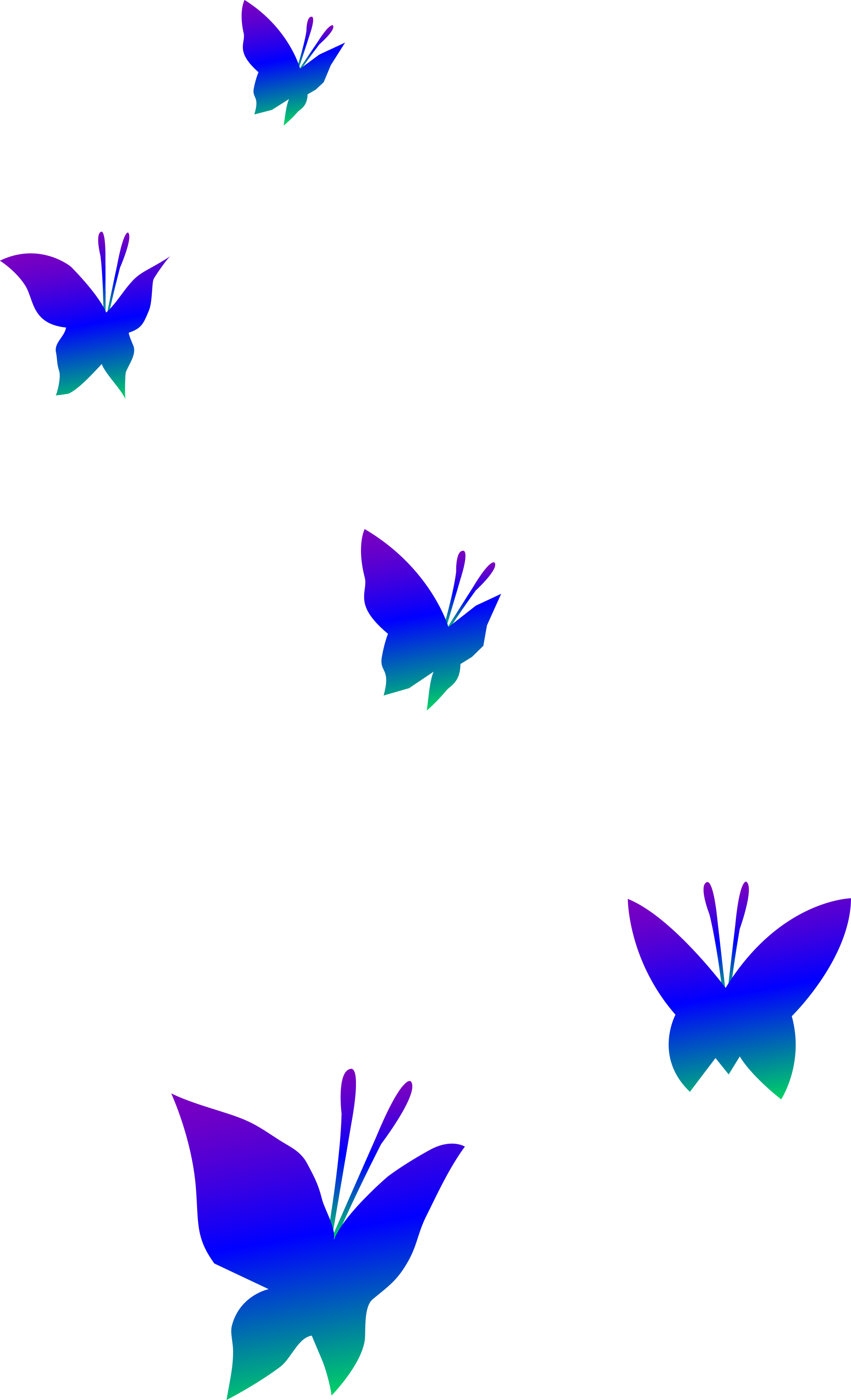 Vector butterflies. Butterfly flying clipart