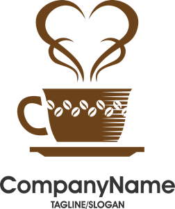 Coffee clip cafe logo. Creative and vector eps