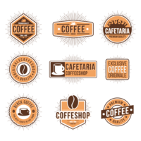Vector cafe banner. Coffee house logo download
