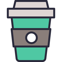 Vector cafe take away. Coffee takeaway icon outline